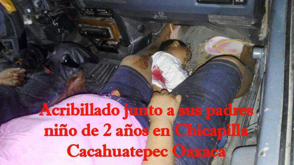 Matan a cuatro en Oaxaca dentro de un Tsuru