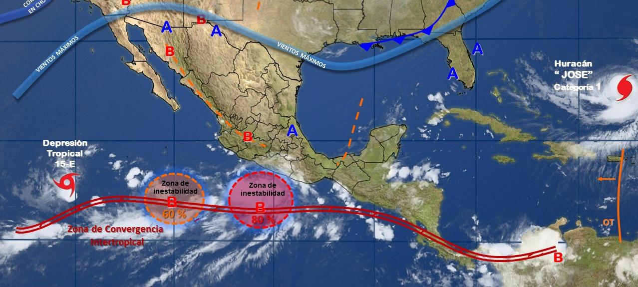 Vigila Protección Civil zona de estabilidad con potencial ciclónico en el Océano Pacífico
