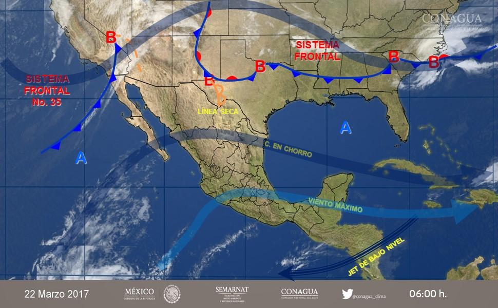 Prevén Frente Frío 35 en Baja California y norte de Chihuahua
