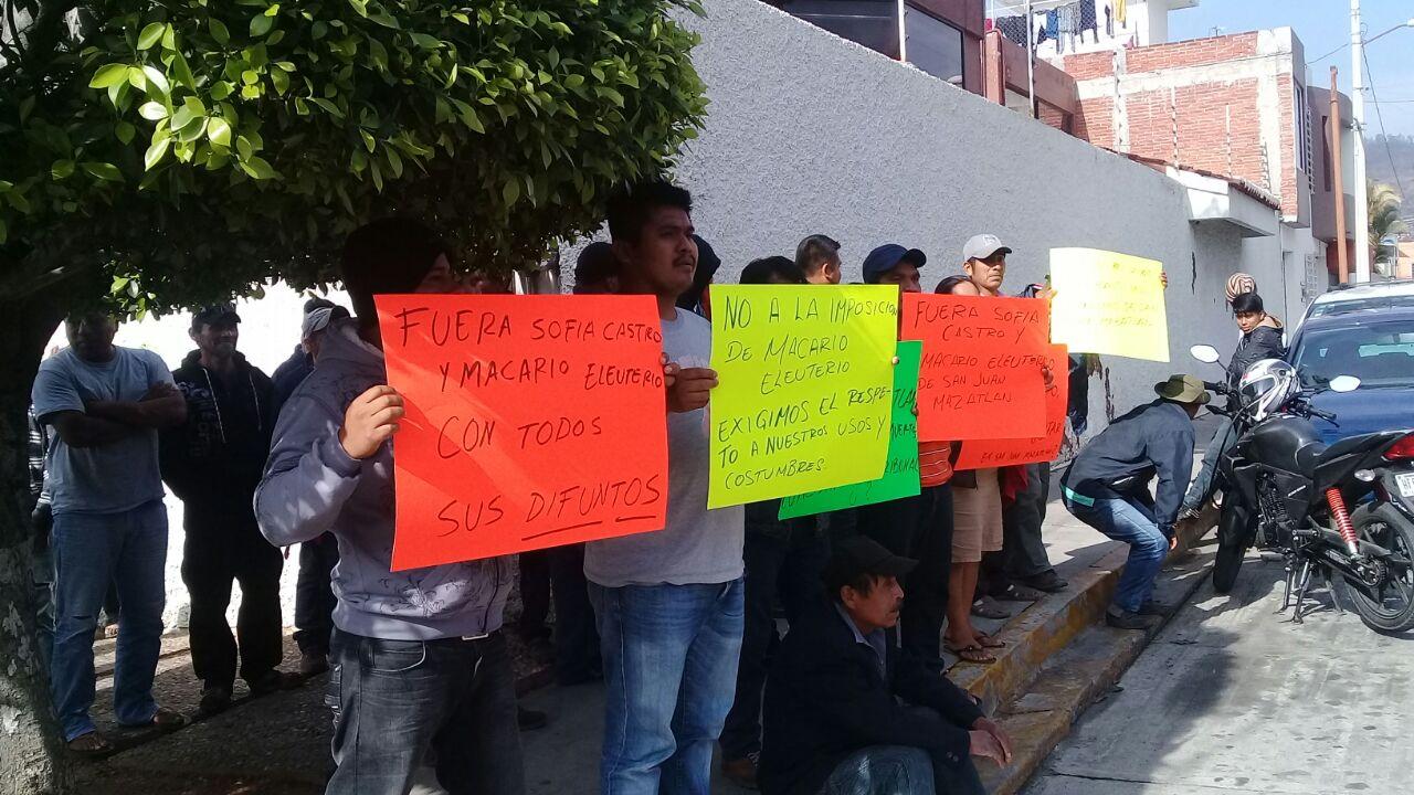 Causan destrozos en Tribunal de Oaxaca por conflictos