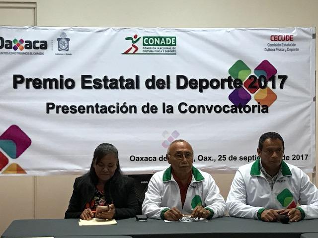 Presentan convocatoria Premio Estatal del Deporte 2017
