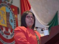 La diputada del PVEM Victoria Cruz Villar estaba a favor de la aprobación del dictamen.
